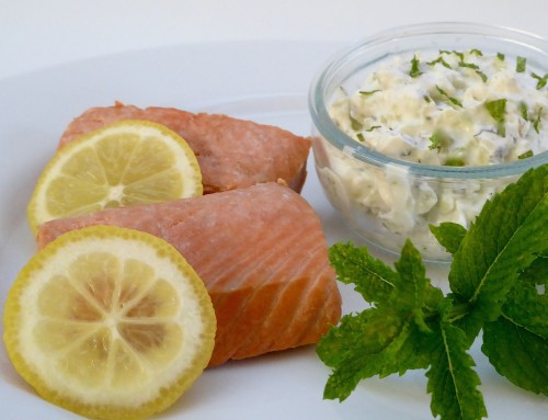 Make-ahead minty poached salmon| Foodie Friday