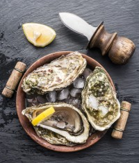 Image of oysters which are a good source of zinc - from CALMERme.com