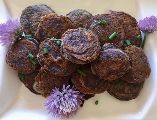 Purple potato stacks recipe | Foodie Friday