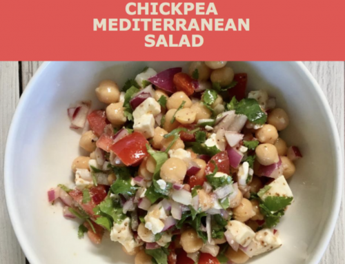 Chickpea Mediterranean Salad | Eat like the Blue Zones