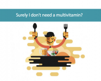 Image of man eating relating to using cronometer to determine your vitamin needs from CALMERme.com