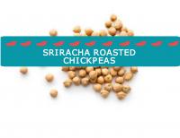 Blogheader image for Sriracha roasted chickpea recipe from CALMERme.com