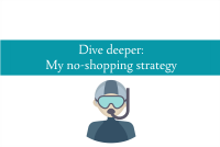 Image of a diver to illustrate my dive deeper approach to not shopping from CALMERme.com