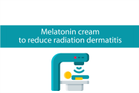 Blogheader for article about melatonin cream to reduce radiation dermatitis from CALMERme.com