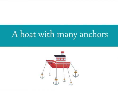 A boat with many anchors | How many anchors need to be raised for health