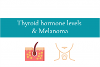 Blogheader for relationship between Thyroid hormones and melanoma from CALMERme.com