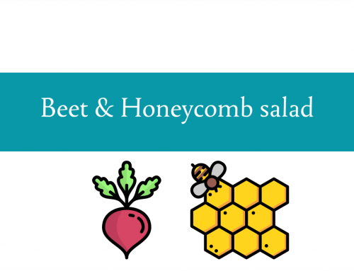 Beet and honeycomb salad | New food Friday