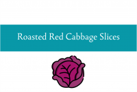 Blogheader for roasted red cabbage slices recipe by CALMERme.com