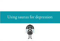 Blogheader for the benefits of using sauna for depression from CALMERme.com