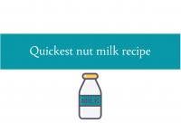 Quickest nut milk recipe blogheader from CALMERme.com