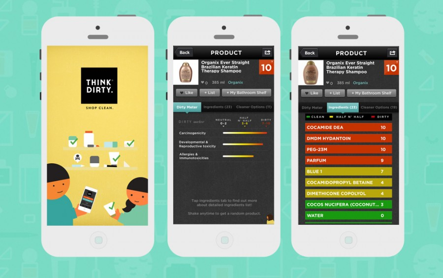 Skin Deep and Think Dirty   Apps for your health