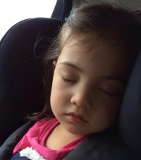 Image of a little girl asleep suggesting the importance of sleep from CALMERme.com
