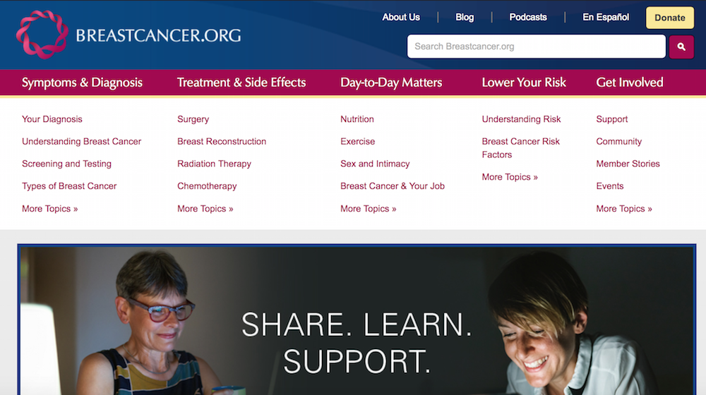 Websites to check | breastcancer.org