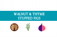 Walnut and thyme stuffed figs blogheader from CALMERme.com