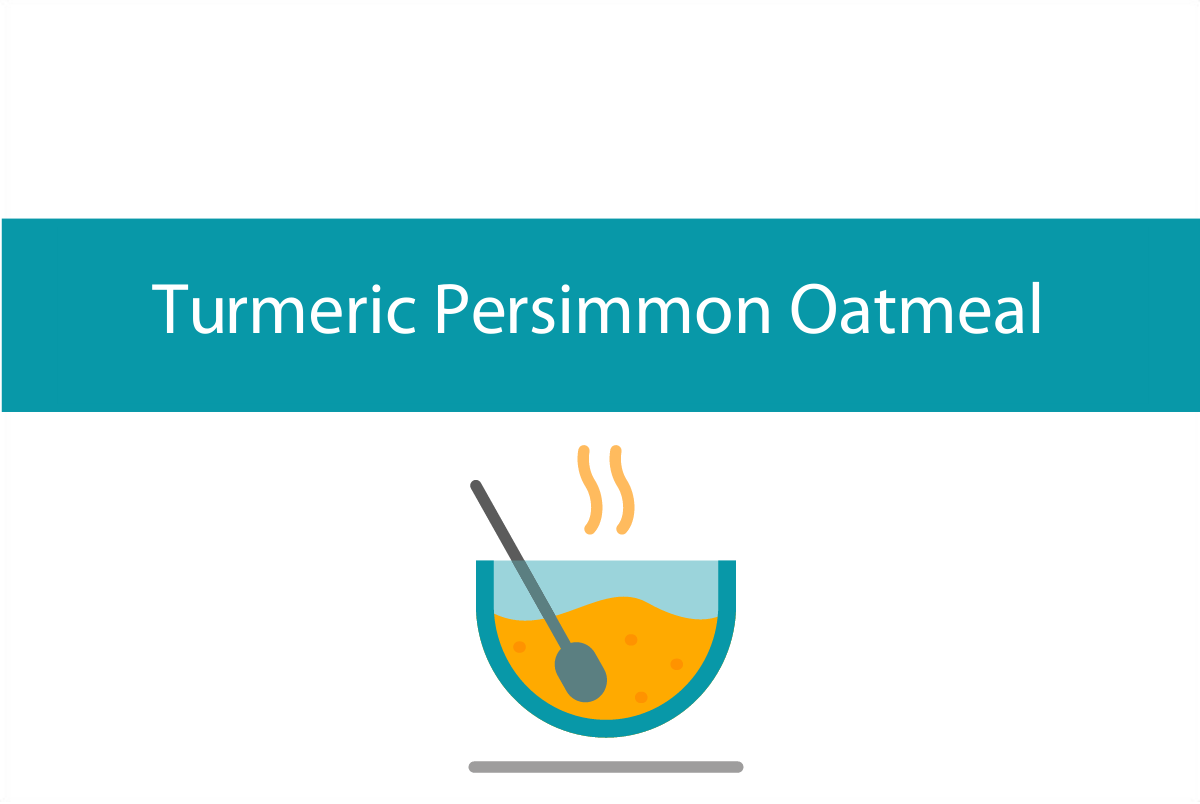 Turmeric persimmon oatmeal or porridge | Foodie Friday recipe