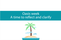 Blog header for oasis week between Christmas and New Year. A time to re-evaluate. From CALMERme.com