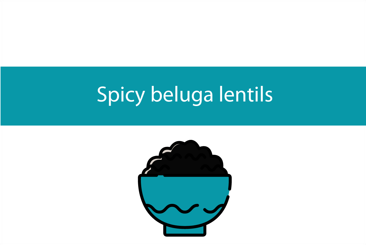 Spicy beluga lentils recipe | Foodie Friday