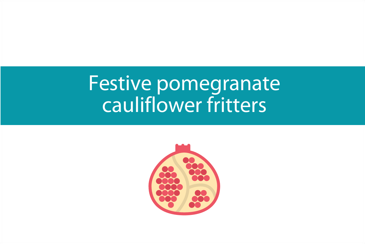 Festive cauliflower fritters | Plus spiced yogurt recipe to always have in the fridge