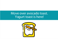Blogheader for yogurt toast blog post from CALMERme.com