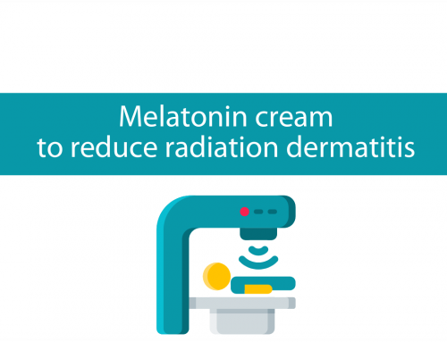 Topical Melatonin cream for breast radiation dermatitis