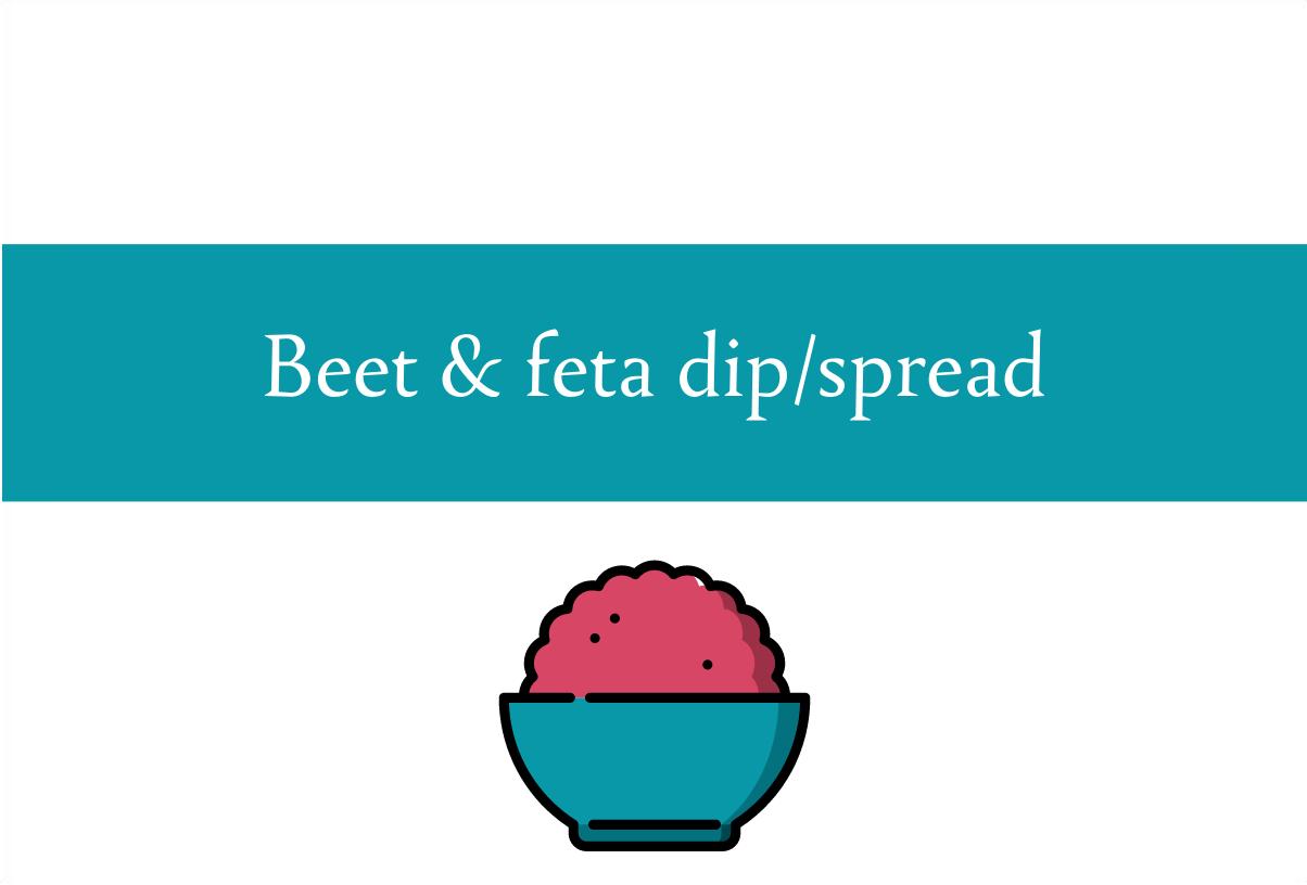 Beet and feta dip recipe   Foodie Friday