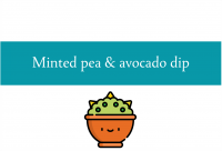 Blogheader for recipe for minted pea avocado dip recipe from CALMERme.com