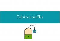 Tulsi tea truffles blogheader from CALMERme.com