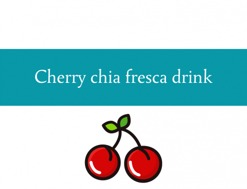 Cherry chia fresca drink recipe | Foodie Friday