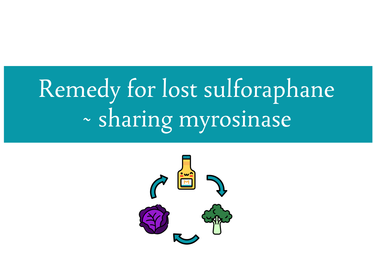 Sulforaphane from frozen or cooked cruciferous vegetables | Sharing myrosinase