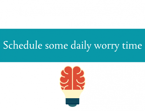 Schedule daily worry time