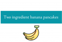 Blogheader for banana pancakes recipe from CALMERme.com