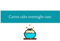 Blogheader for carrot cake overnight oats from CALMERme.com