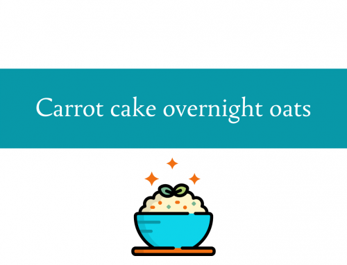 Carrot cake overnight oats recipe | Vegetables for breakfast