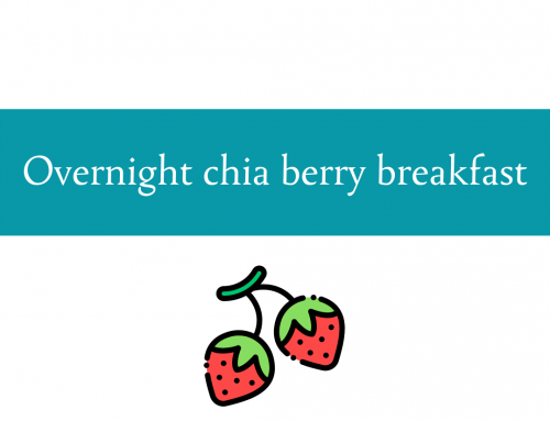 Overnight chia berry breakfast recipe | Foodie Friday